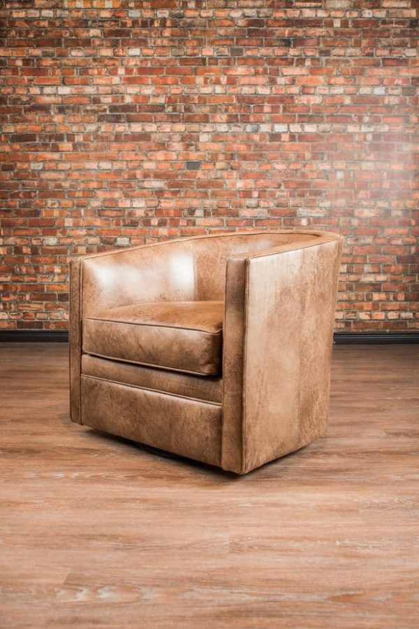 leather chair tub swivel