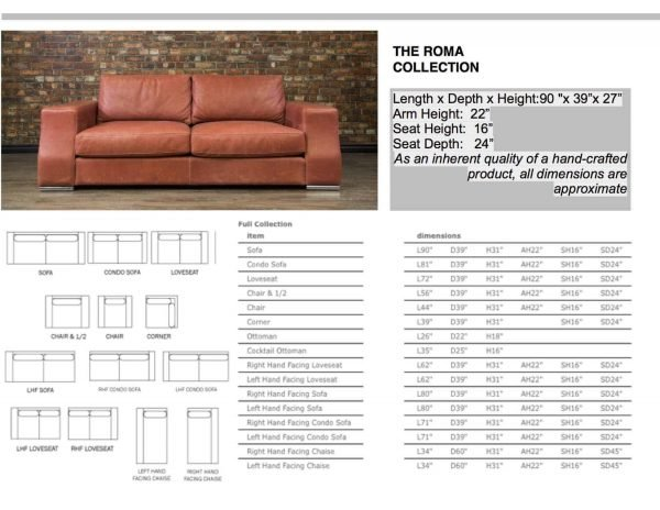 leather sofas ROMA COLLECTION