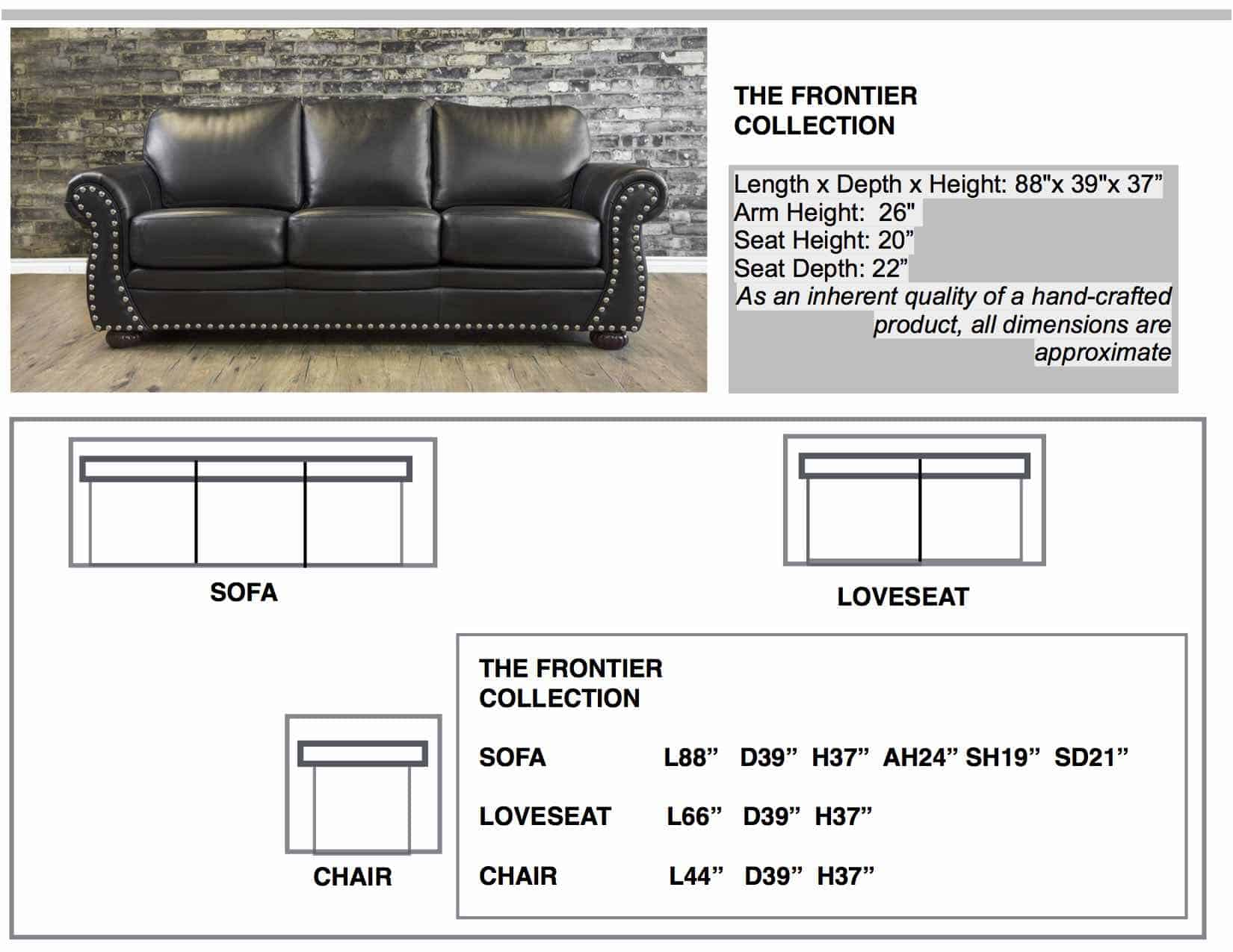 leather sofas THE FRONTIER sizes