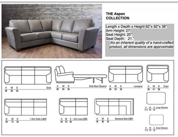leather sectionals aspen Collection