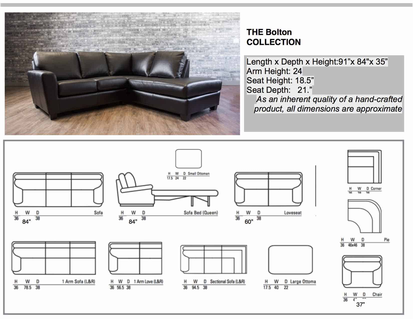 ... Leather Sectionals The Bolton Collection ...