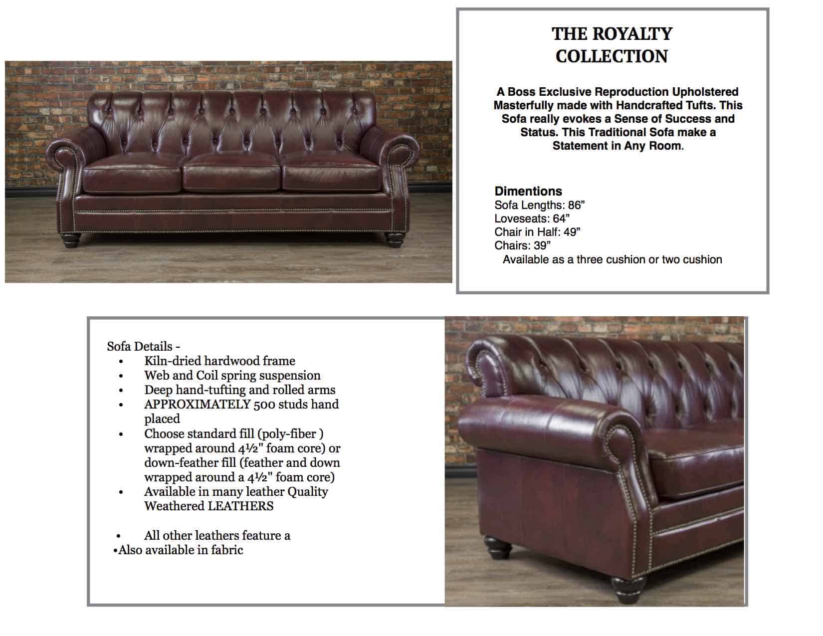 The Royalty Leather Sofa