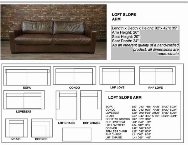 leather sofas the loft sizes