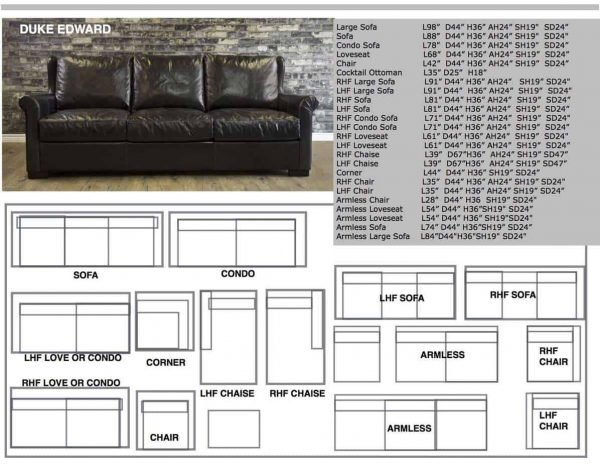 Duke edward leather sofa