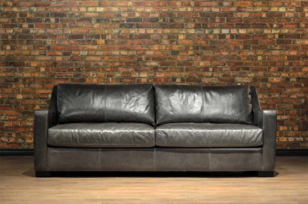 loft leather sofa in scarlett fog