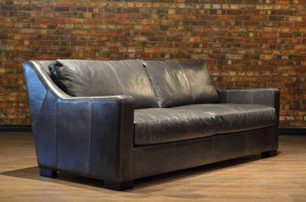 loft angle leather sofa scarlett fog