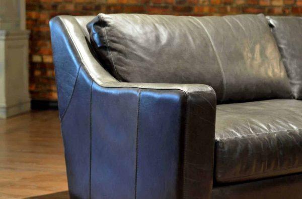 loft leather sofa scarlet fog