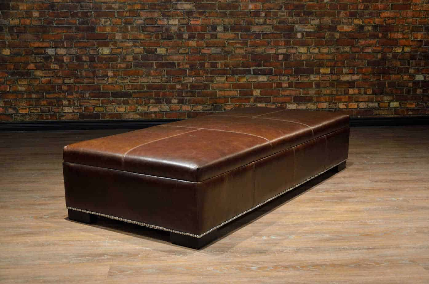 Coffee Table Ottoman Large Canada S Boss Leather Sofas And Furniture