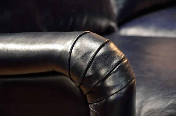 Leather sofaThe old english roll arm