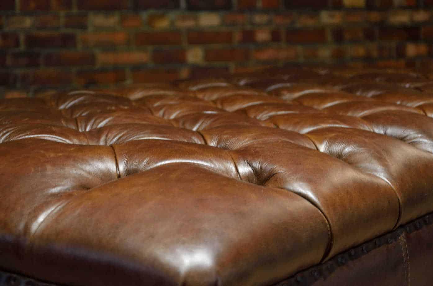The King Arthur Rectangular Leather Ottoman Collection