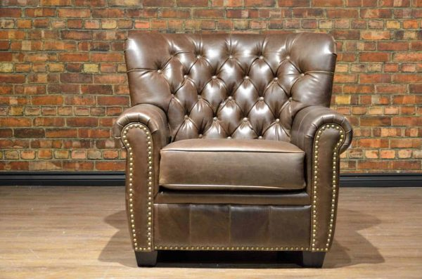 winston churchill leather chair