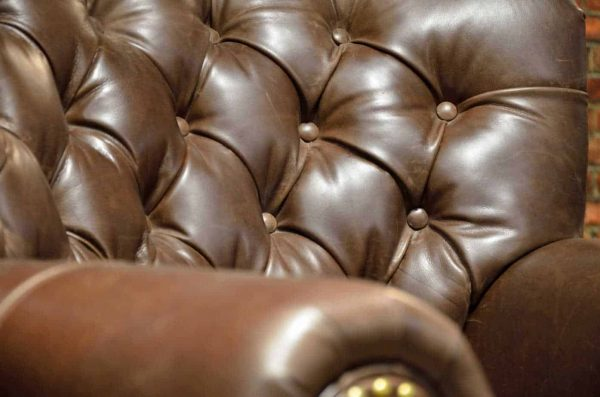 tufted chair close up