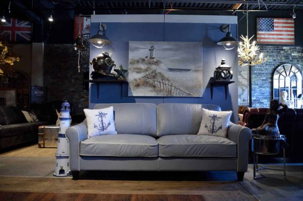 nautical leather sofa