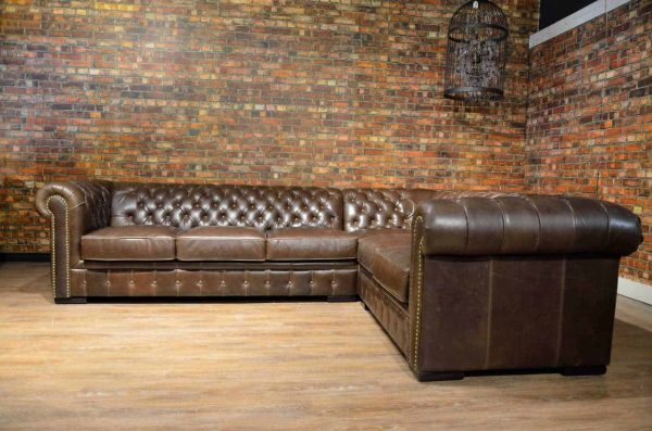 camelot leather sectional