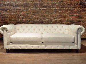 tufted Linen sofa