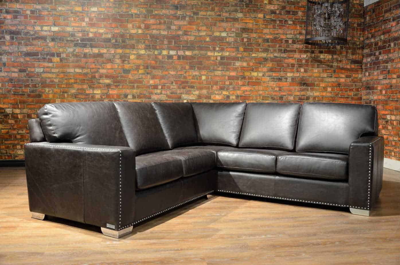 The Maxell Petite Leather Sectional Canada S Boss