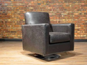 classic club swivel leather