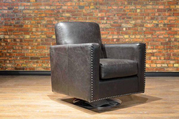classic club swivel leather