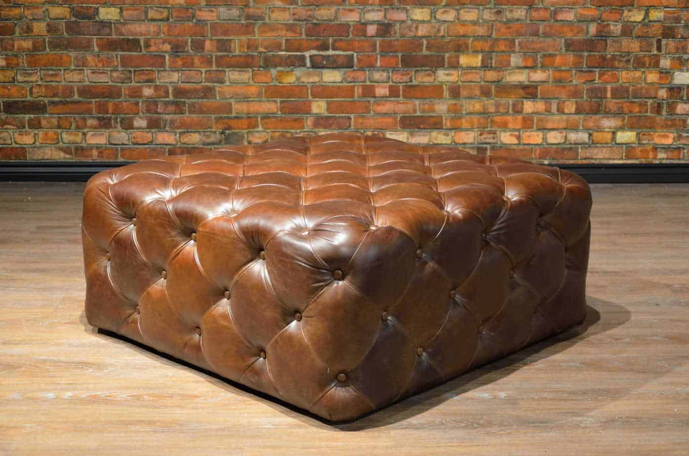 The King Arthur Tufted Square Ottoman Collection