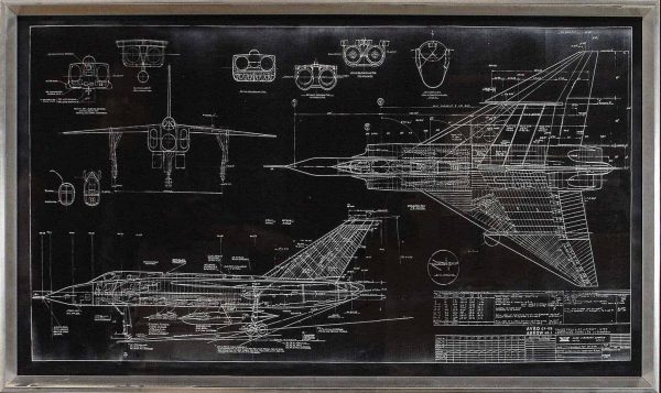 BLUEPRINT – AVRO ARROW – BLACK #14932 Size: 24X43.5 CEL-ements Studio