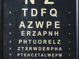 eye chart decorative