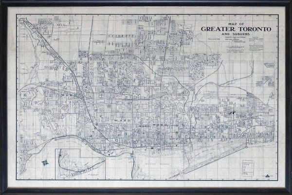 MAP – GREATER TORONTO – 1916