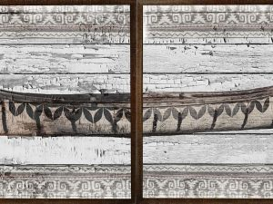 BIRCH BARK CANOE DIPTYCH
