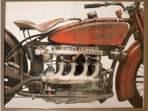 Vintage Harley photo Colour
