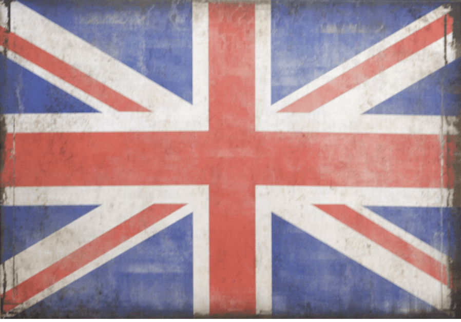Vintage British Flag On Canvas Canada S Boss Leather