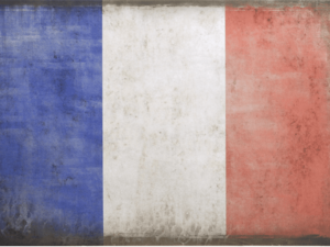 Vintage french Flag
