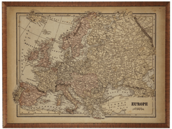 VINTAGE MAP OF EUROPE #13044 Size: 30X40