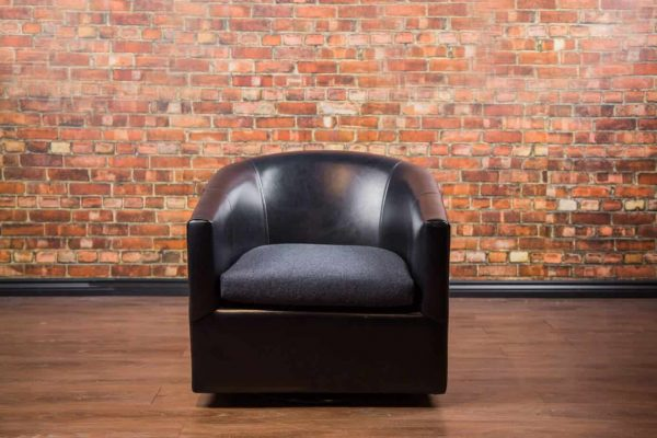 Treki Swivel Leather Chair