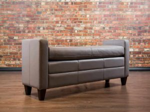 Leather End of Bed Bench