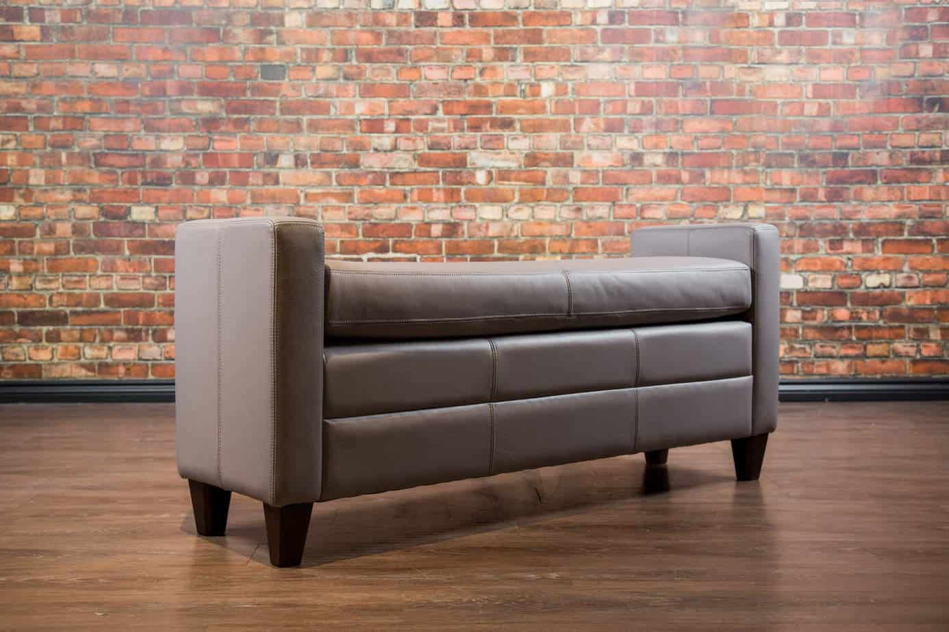 The End Of Bed Ottoman Collection Canada S Boss Leather