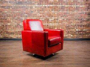 leather chair classic swivel