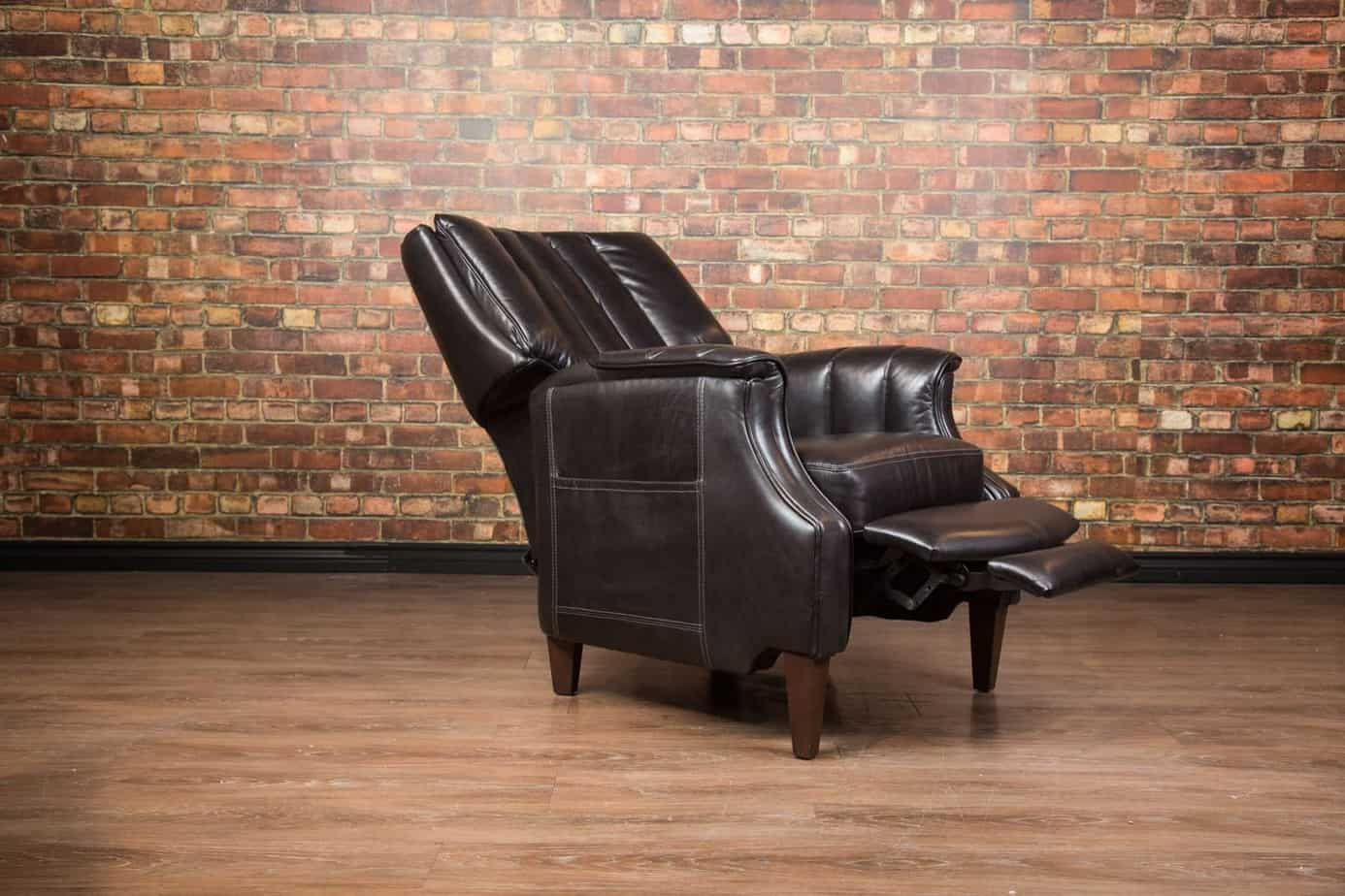 Library Chair in gloss black open
