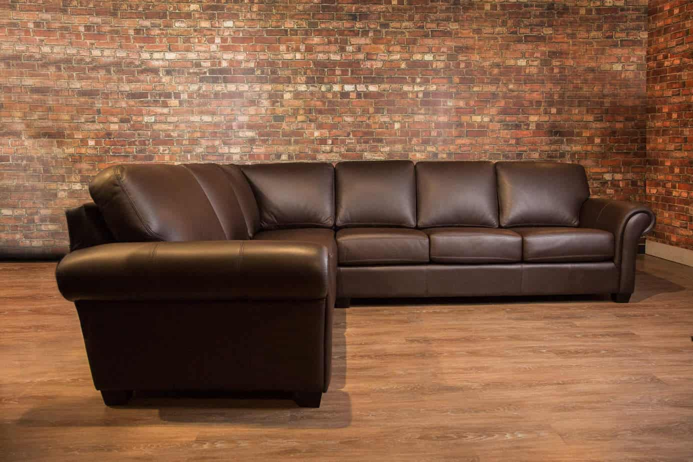The Bella Leather Sectional Canada S Boss Leather Sofas