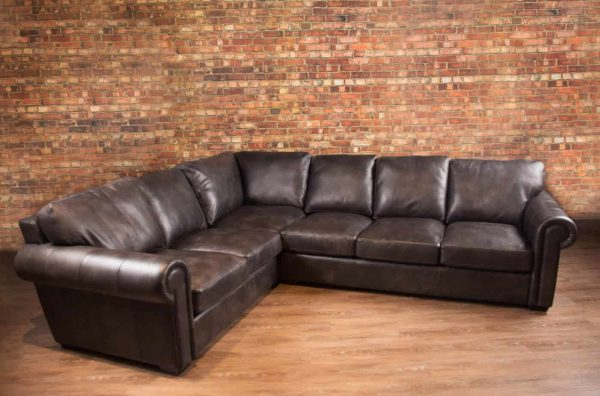 leather sectional winchester petite Ultra Platinum