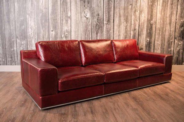 florentine leather sofa