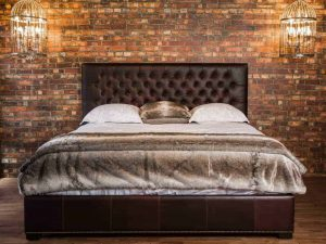 Tufted Leather Beds