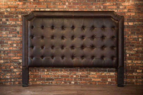 king leather headboard