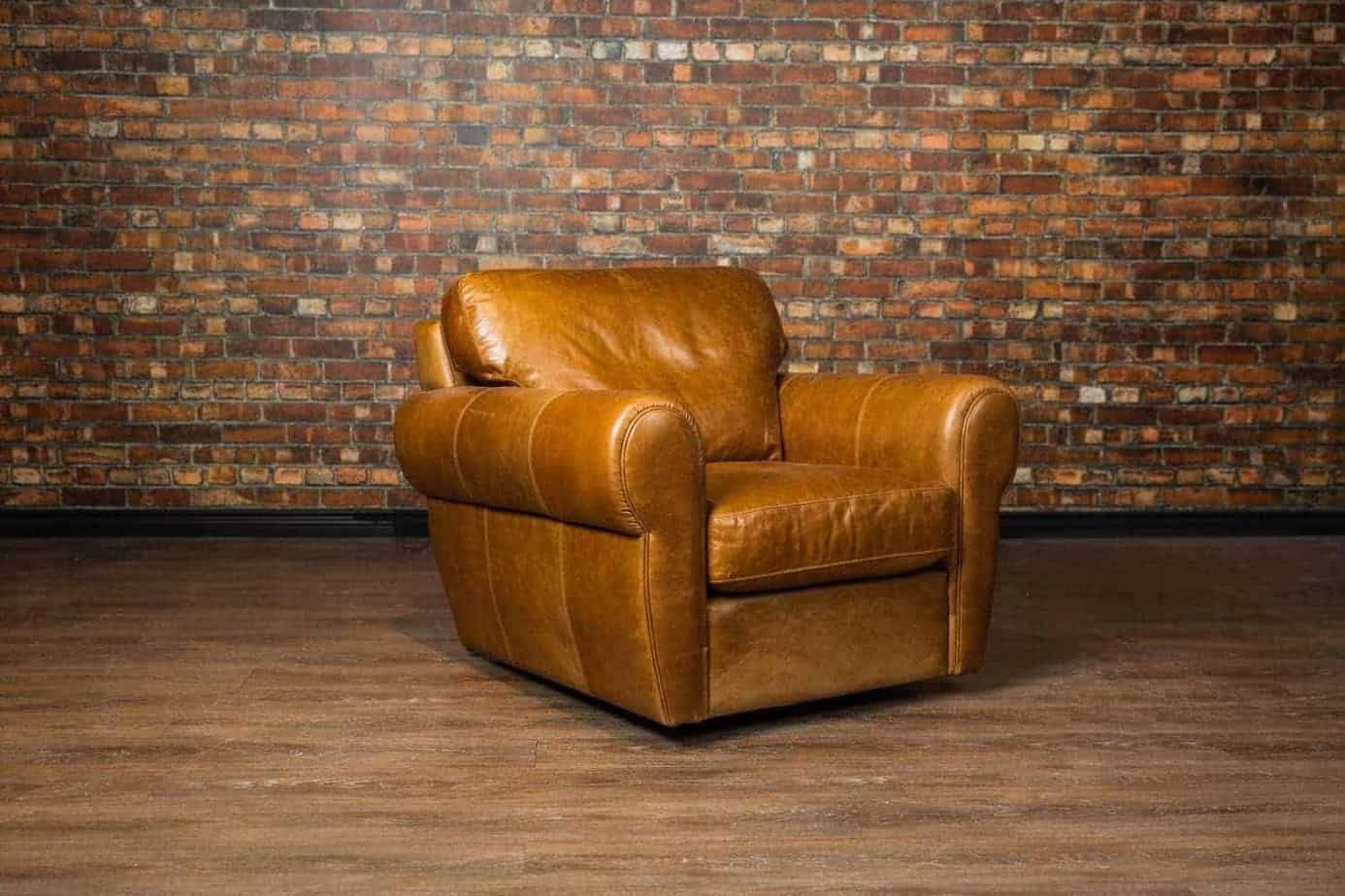 Picture of: Sheldon Chair With Swivel Option Canada S Boss Leather Furniture