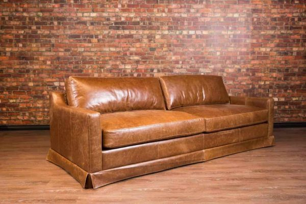 collins leather sofa