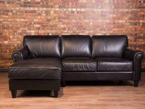 Bay street leather sofa