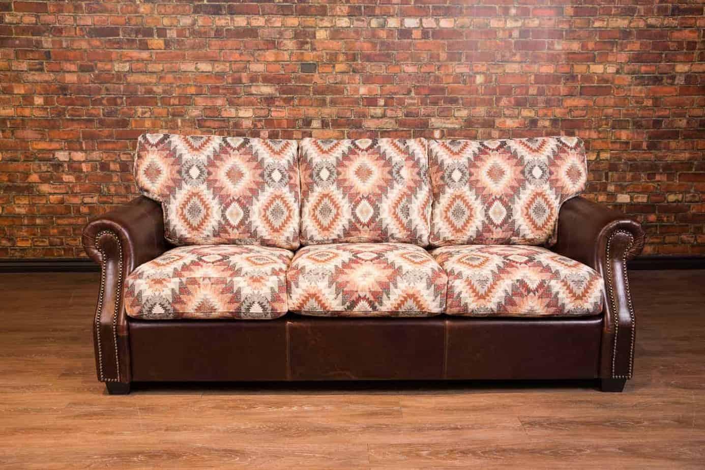 The Texas Leather Fabric Sofa