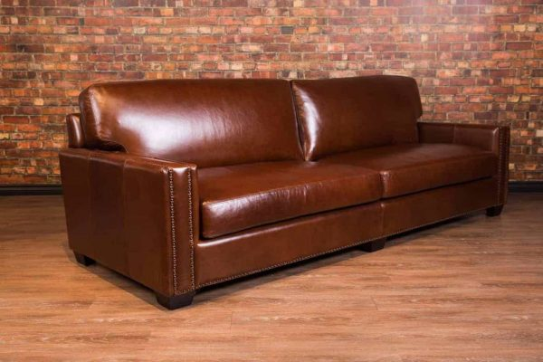 chart well leather sofa