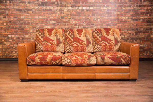 torino leather fabric combo