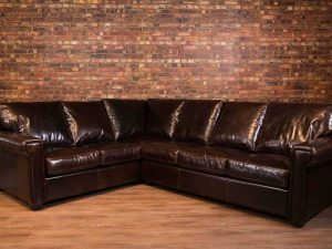 houston leather sectional
