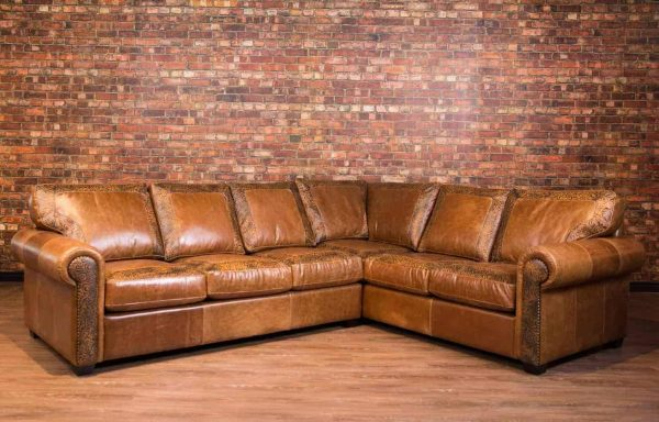 old west leather sectional