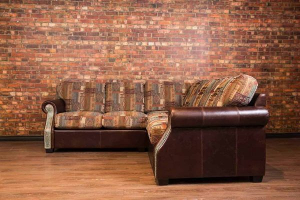 texas sectional fabric leather